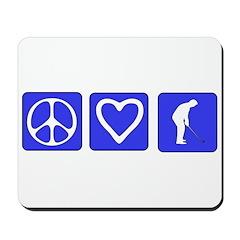 Peace Love Golf Mousepad