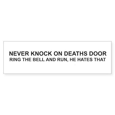 Deaths Door Bumper Sticker