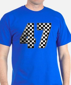 Checkered Number 47 T-Shirt