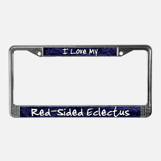 Funky Love Red-Sided Eclectus License Plate Frame