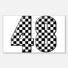 Racing Number 48 Rectangle Decal