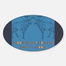 Mighty Moose Oval Decal