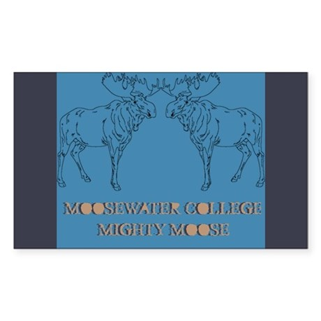 Mighty Moose Rectangle Sticker