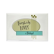 Everybody Loves a Paralegal Rectangle Magnet