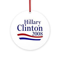 Hillary Clinton Christmas Ornament