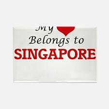My heart belongs to Singapore Singapore Magnets