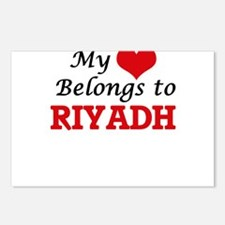 My heart belongs to Riyad Postcards (Package of 8)