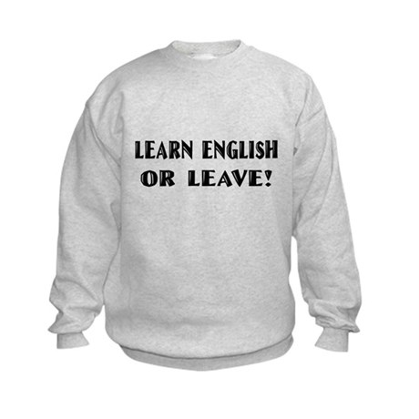 Learn English T-shirts & Gift Kids Sweatshirt