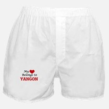 My heart belongs to Yangon Myanmar Boxer Shorts