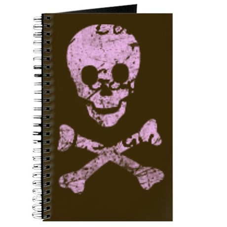Pink and Brown Skull Journal