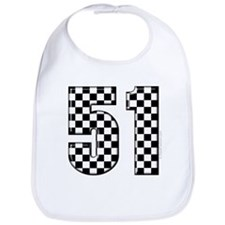 Checkered Number 41 Bib