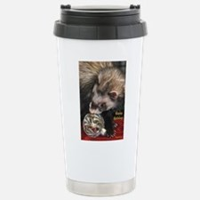 Christmas ferret Travel Mug