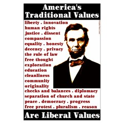Traditional values poster