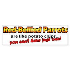 Potato Chips Red Bellied Parrot Bumper Bumper Sticker