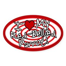Hypno I Love My Red-Bellied Parrot Sticker Red