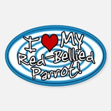 Hypno I Love My Red-Bellied Parrot Sticker Blue