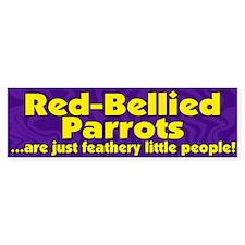 Feathery People Red-Bellied Parrot Bumper Bumper Sticker