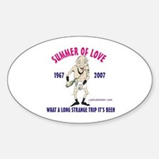 Summer of Love Oval Decal