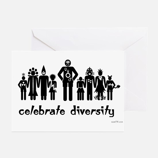 Alien Diversity Greeting (20) Cards