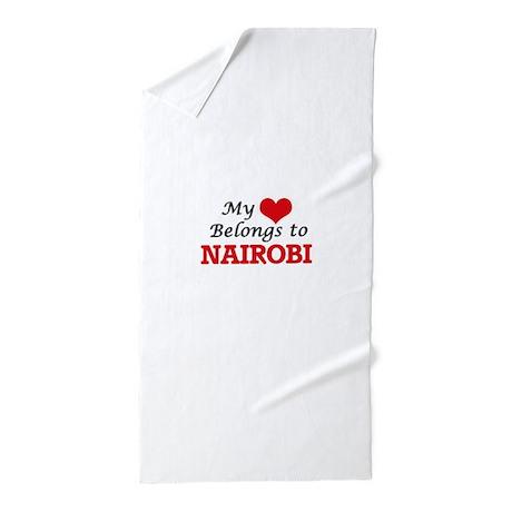 My Heart Belongs To Nairobi Kenya Beach Towel