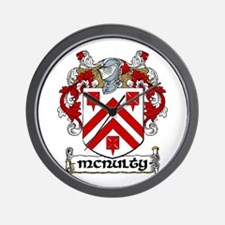 McNulty Coat of Arms Wall Clock