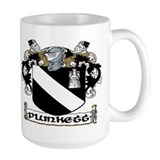 Plunkett crest Large Mugs (15 oz)