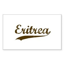 Vintage Eritrea Retro Rectangle Decal