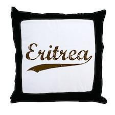 Vintage Eritrea Retro Throw Pillow