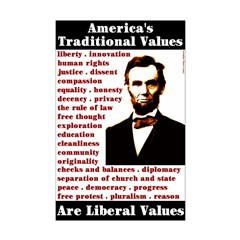 Smaller Liberal Values Poster 11x17