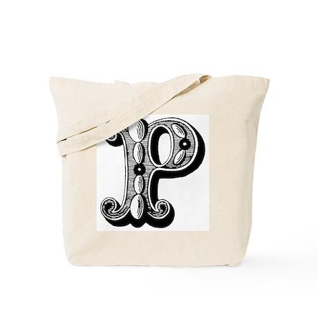 P-Decorative Letters Tote Bag