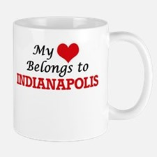 My heart belongs to Indianapolis Indiana Mugs