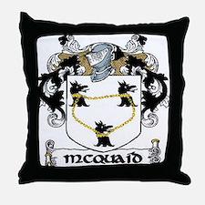 McQuaid Coat of Arms Throw Pillow