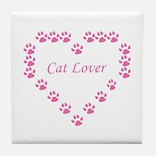 Cat lover Tile Coaster