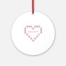 Cat lover Round Ornament