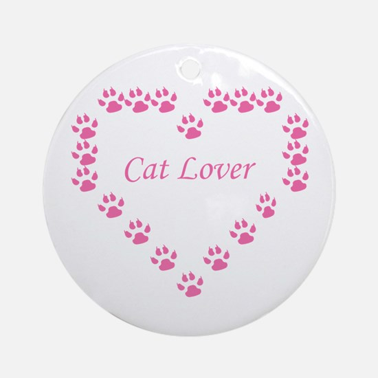 Cat lover Round Ornament