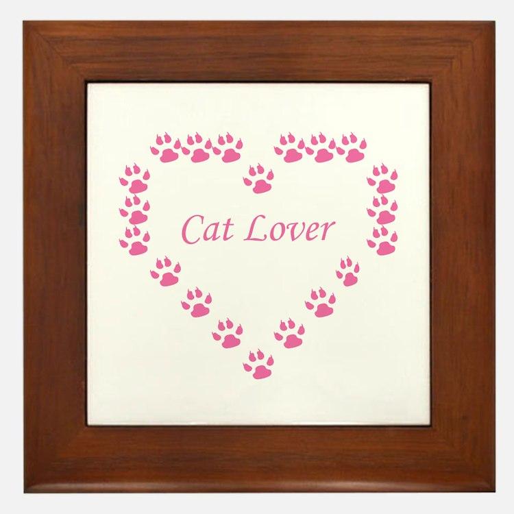 Cat lover Framed Tile