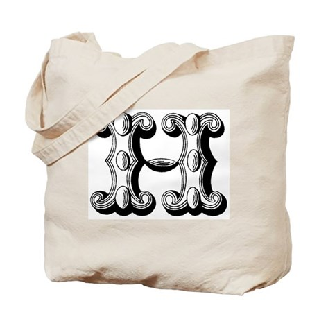 H-Decorative Letters Tote Bag