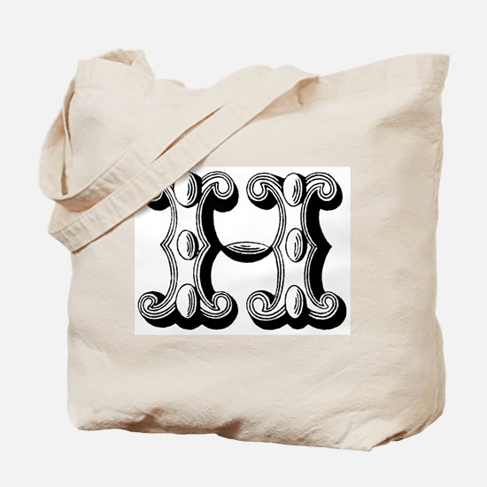 H-Decorative Letters Tote Bag