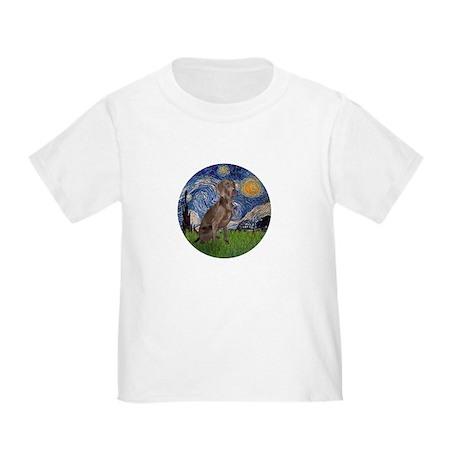Starry / Weimaraner Toddler T-Shirt