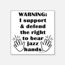 "Cute Jazz hands Square Sticker 3"" x 3"""