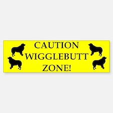 Wigglebutt Zone Bumper Car Car Sticker