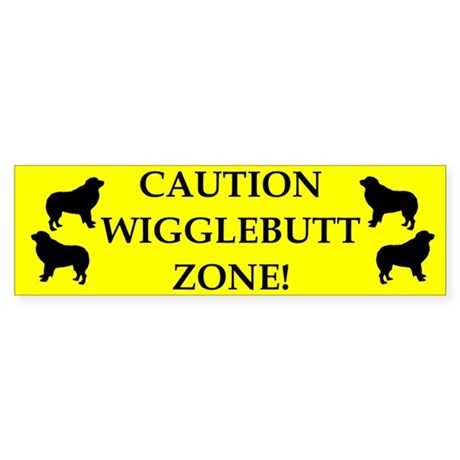 Wigglebutt Zone Bumper Sticker