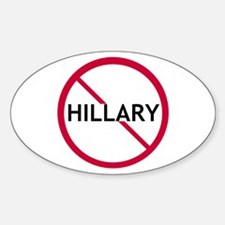 Close Hillary Oval Decal