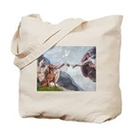 Creation / Weimaraner Tote Bag
