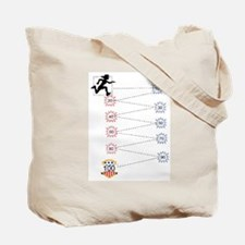 100th Day Run Tote Bag