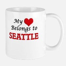 My heart belongs to Seattle Washington Mugs