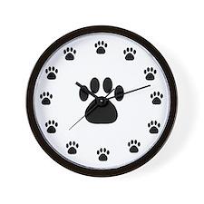 PAW PRINT Wall Clock
