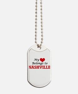 My heart belongs to Nashville Tennessee Dog Tags