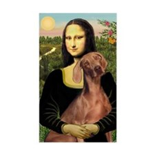 Mona Lisa / Weimaraner Decal