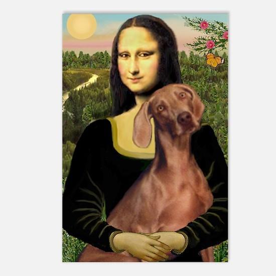 Mona Lisa / Weimaraner Postcards (Package of 8)